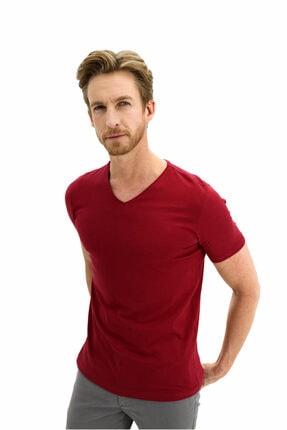 Kiğılı V Yaka Slim Fit Tişört 1