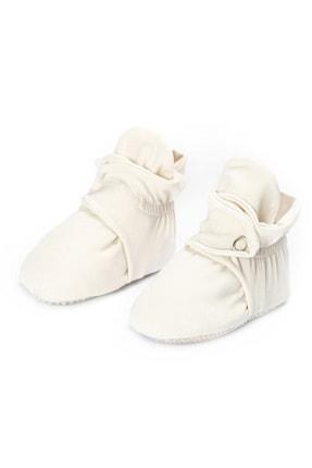 Ella Bonna Organik Pamuk Bebek Patiği, Kaydırmaz Taban, Pamuklu Yenidoğan Pandufu Ev Kreş Ayakkabısı 4