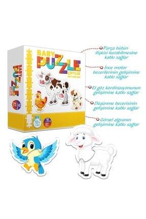 Circle Toys Baby Puzzle Çiftlik Hayvanları - Bebeğimin Ilk Puzzle Seti 1