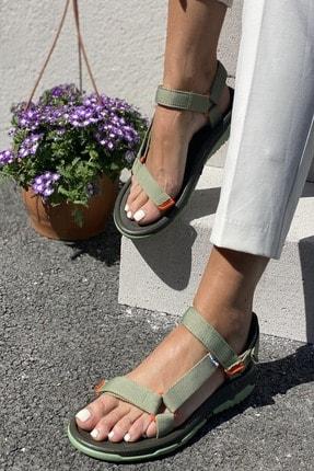 İnan Ayakkabı Kadın Yeşil Sandalet 2