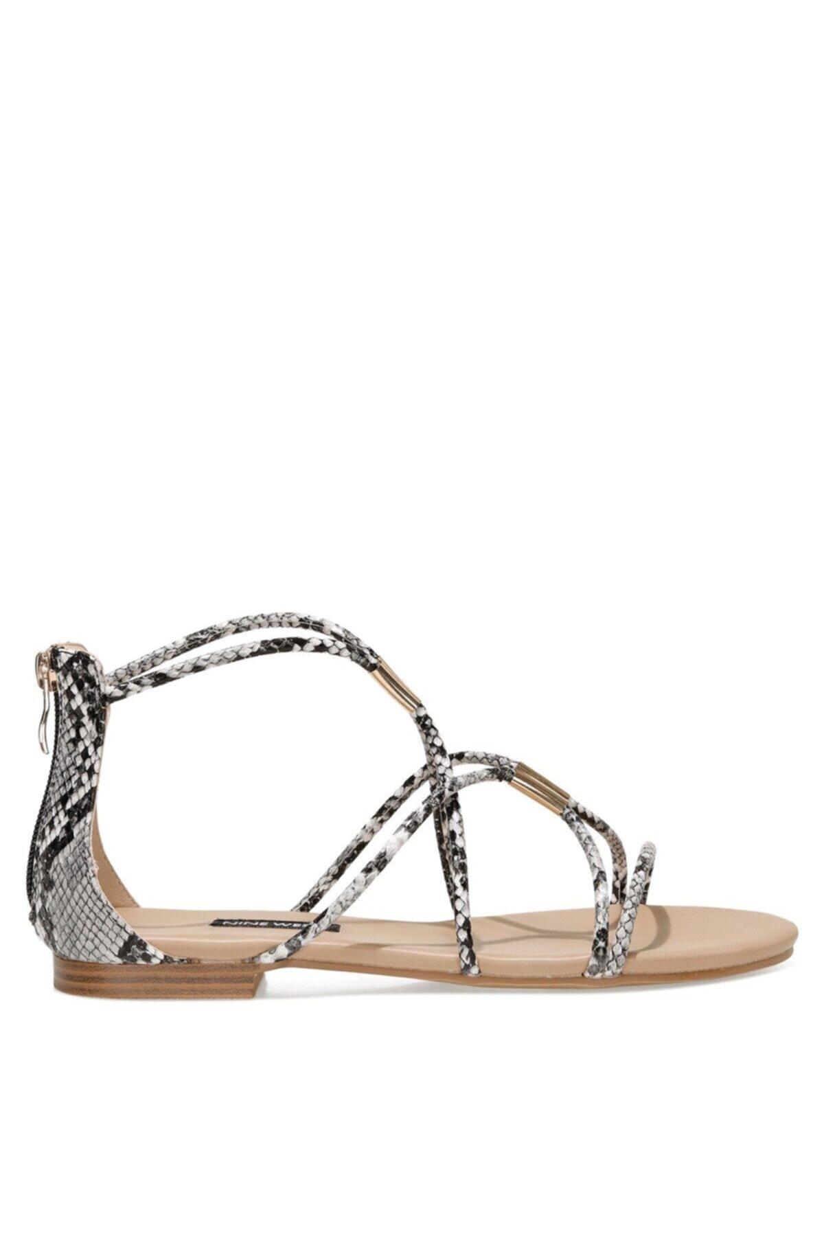 WOINIA 1FX Siyah Kadın Düz Sandalet 101030116