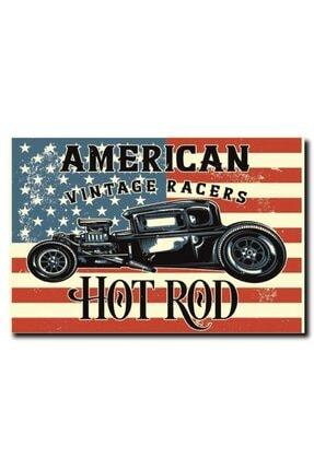 American Vintage Racers Vintage Retro Mdf Ahşap Poster BL00000326