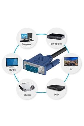 WOZLO 15m Metre Orjinal Vga Kablo Monitör Projeksiyon Ekran Kablosu 3