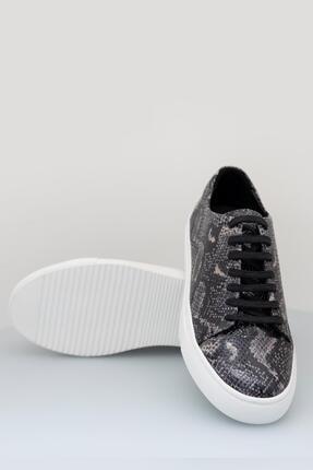 Sea Bullock Kadın  Sneaker Snake Kauçuk Siyah Kadın 3