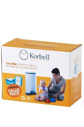 Korbell 3 Paket Bez 1485 Adet Kapasiteli Çöp Poşeti 0