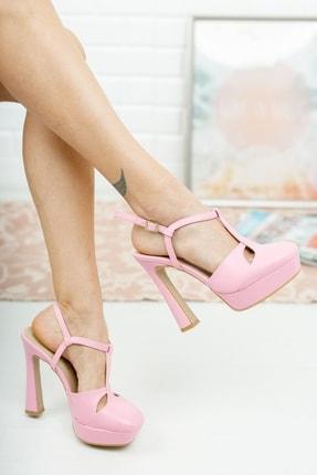 Kadın Pembe Önü Kapalı Topuklu Ayakkabı P29022S310