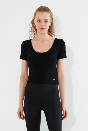 Polo State Kadın U Yaka T-shirt Siyah 0