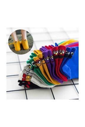 Yalıncak Çorap Emoji Çoraplar 8'lı Gökkuşağı Paketi Resimde Görülen Renkler 2