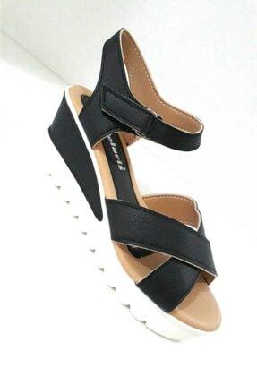 Polaris Kadın Siyah Sandalet 1