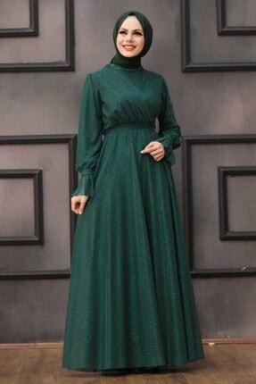 Tesettürlü Abiye Elbiseler - Yeşil Tesettür Abiye Elbise 22202y ARM-22202|00205_Koyu Lila