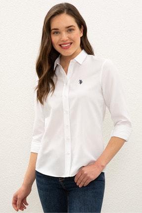 US Polo Assn Beyaz Kadın Gömlek 0