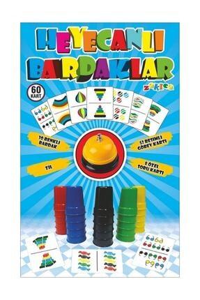 Zekice Heyecanlı Bardaklar Akıl Oyunu - Renkli Ve Pratik- Hızlı Bardaklar 0