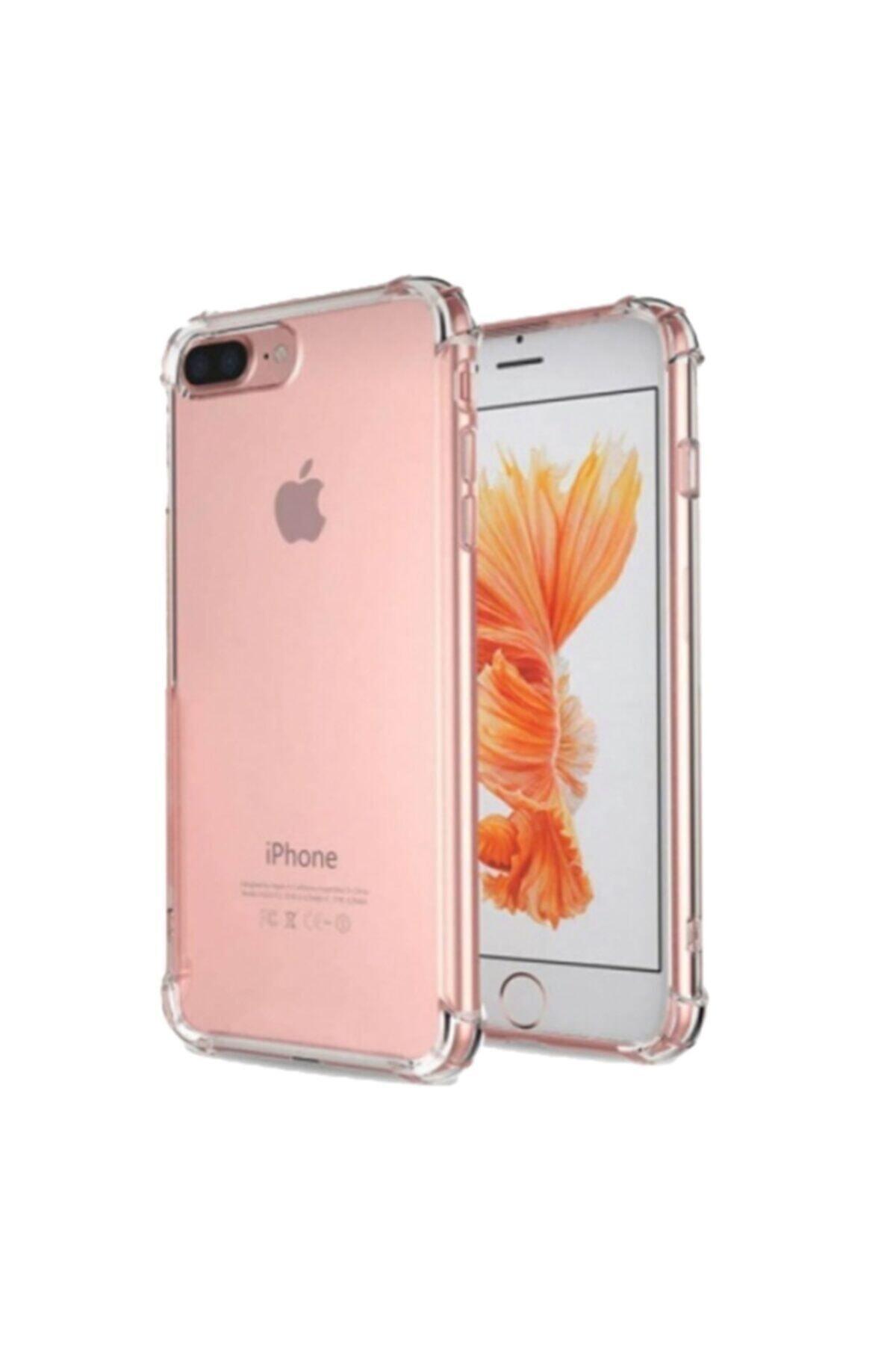 Iphone 7 Plus 8 Plus Uyumlu Ultra Ince Şeffaf Airbag Anti Şok Silikon Kılıf
