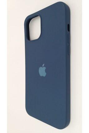 Pirok Store Iphone 12 Promax 6.7 Lacivert Lansman Içi Kadife Logolu Silikon Kılıf 1