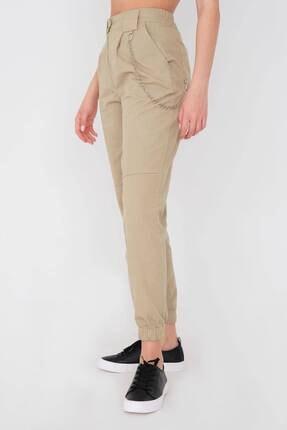 Addax Kadın Vizon Zincir Detaylı Pantolon Pn01-0073 - S11 1