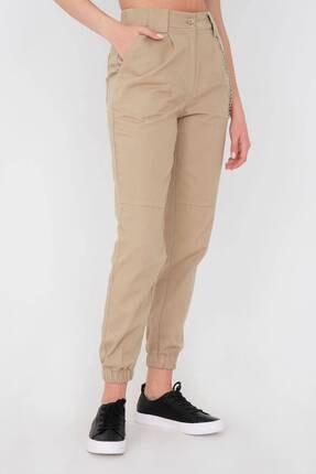 Addax Kadın Vizon Zincir Detaylı Pantolon Pn01-0073 - S11 3