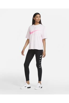 Nike Sportswear Swoosh Yüksek Belli Siyah Tayt 3