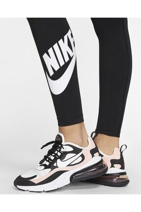 Nike Sportswear Yüksek Belli Siyah Tayt 3