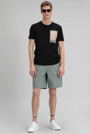 Lufian Mark Modern Grafik T- Shirt Siyah 0