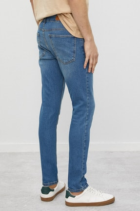 Koton Erkek Mavi Jean Pantolon 3