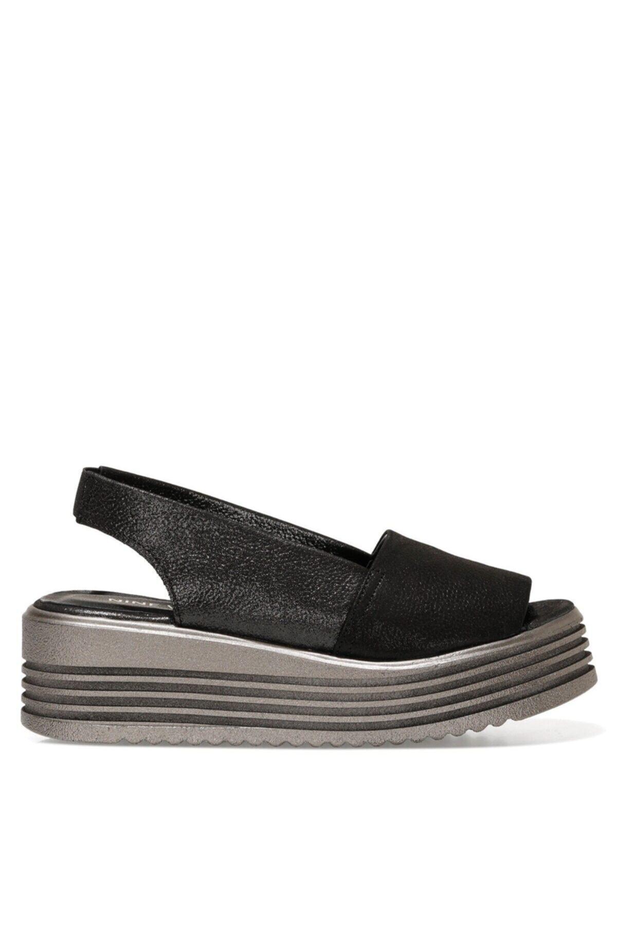 MORENA2 1FX Siyah Kadın Dolgu Topuklu Sandalet 101026623