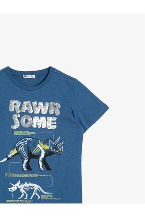 Koton Erkek Çocuk Mavi Tişört 2