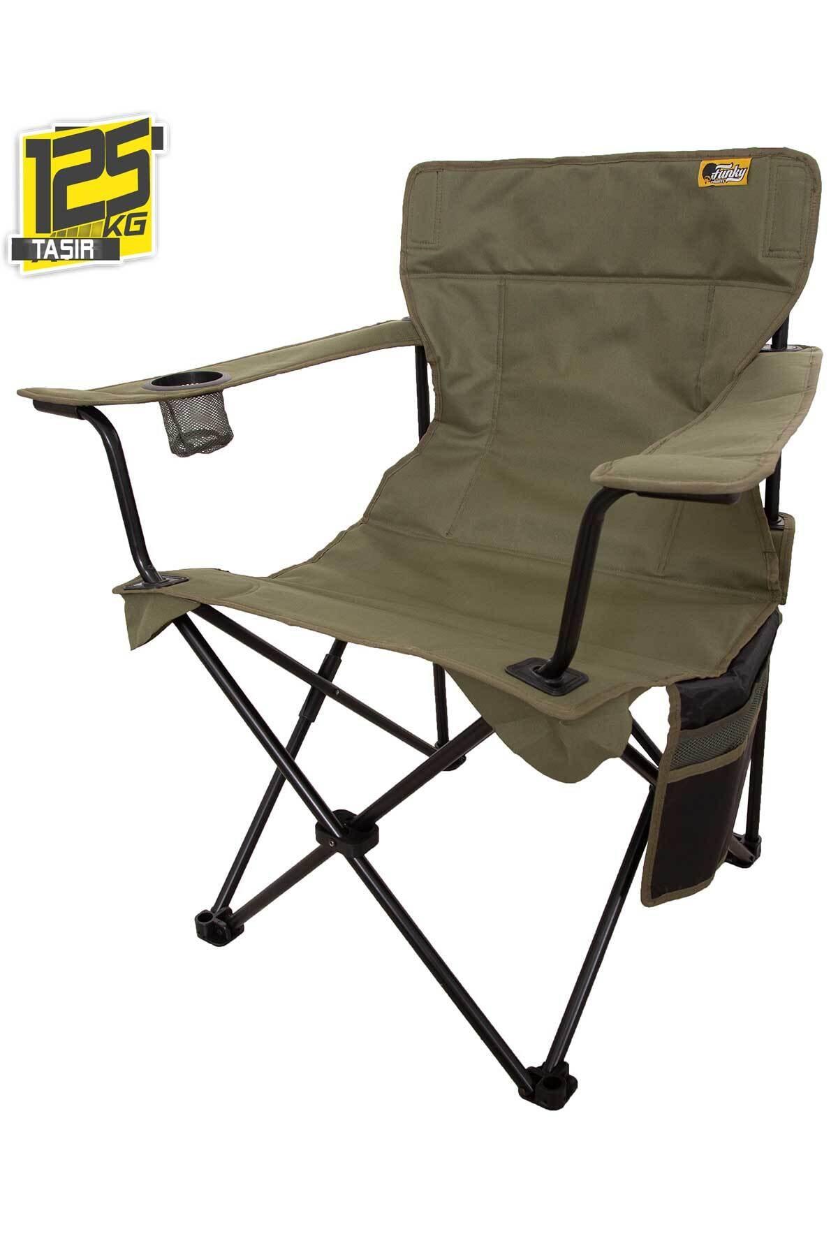 Funky Chaırs V2 Haki Lüks Kamp Sandalyesi