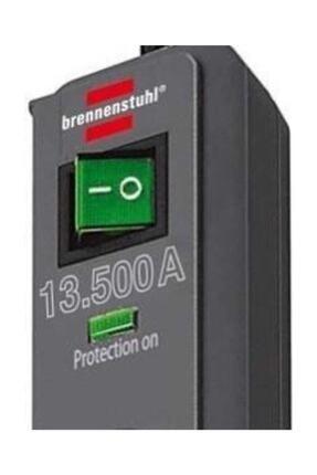 Brennenstuhl Eco-line 13.500 A Akım Korumalı Priz 6lı 1