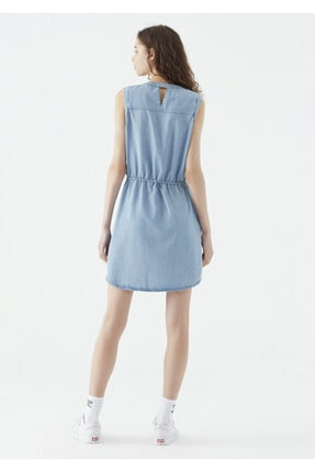 Mavi Suzy Lux Touch Lyocell Denim Elbise 3
