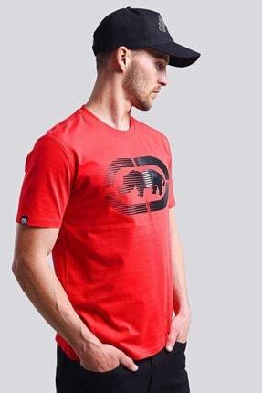 Ecko Unltd Logo Tee 2 Kırmızı Erkek Baskılı Bisiklet Yaka T-shirt 3