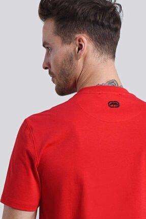 Ecko Unltd Logo Tee 2 Kırmızı Erkek Baskılı Bisiklet Yaka T-shirt 4