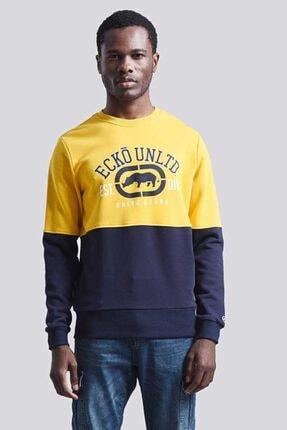 Ecko Unltd Logo Sweat 2 Sarı Erkek Baskılı Bisiklet Yaka Sweatshirt 0