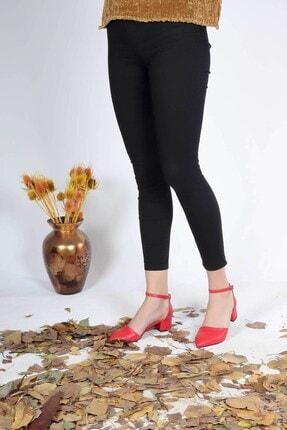 5004 Kadın Topuklu Ayakkabı Kırmızı TBY5004000