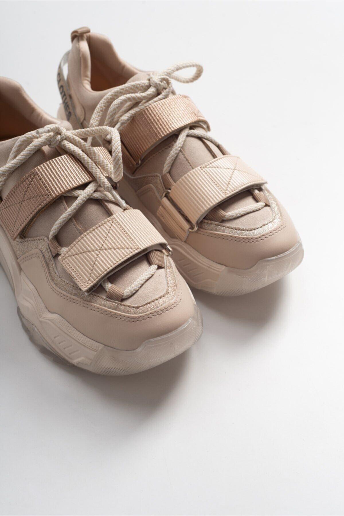 Kadın  Bej Bej Rose Bantlı Spor Ayakkabı 65140