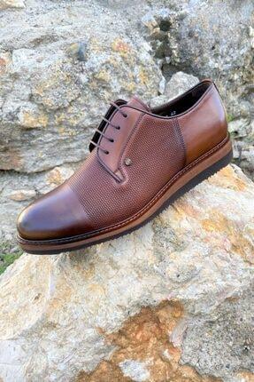 Erkek Kahverengi İçi Dışı Hakiki Deri Eva Tabanlı Oxford Ayakkabı resmi