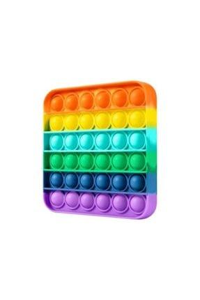 Sisbro Toys Bubble Pop, Pop It, Push Bubble, Fidget, Özel Duyusal Stressiz Oyuncak Kare Gökkuşağı 0
