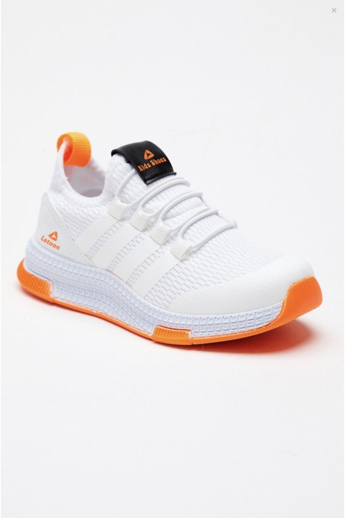 Unisex Çocuk Beyaz Sneaker