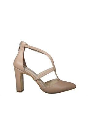 Kadın Ten Rengi Topuklu Ayakkabı CC312 Ten Rengi