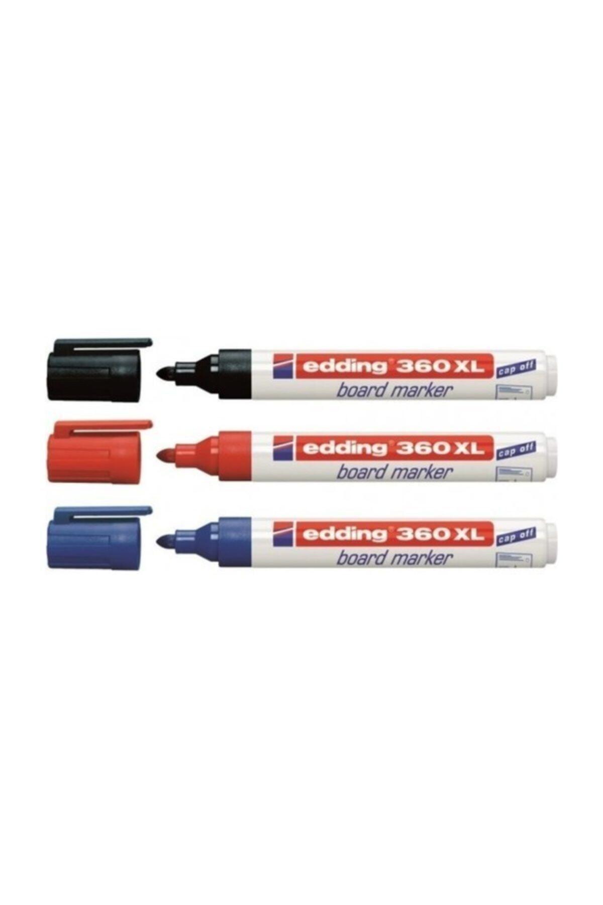 360 Xl Siyah Mavi Kırmızı 3'lü Paket Tahta Kalemi
