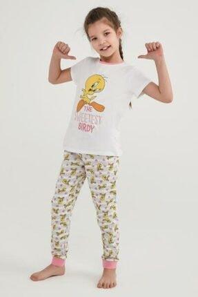 Picture of Kız Çocuk Çok Renkli Lıc Famıly Tweety 2Li Pijama Takımı