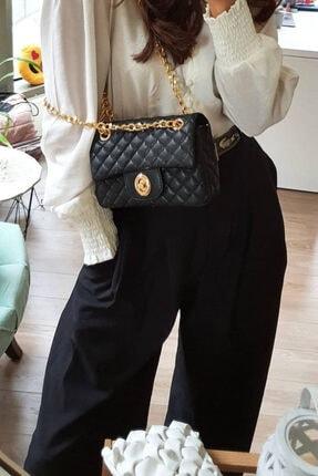 Moom Bag Kadın Siyah Zincirli Kapitone Çanta 1