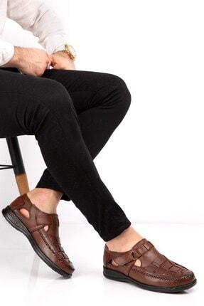 maximoda Erkek Hakiki Deri Klima Taban Deri Sandalet 0
