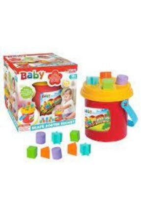 Dede Oyuncak Eğitici Öğretici Bebek Oyuncakları Bultak Kova 14 Parça Şekilli 0
