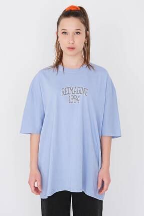 Picture of Baskılı Oversize T-shirt P9580 - D8