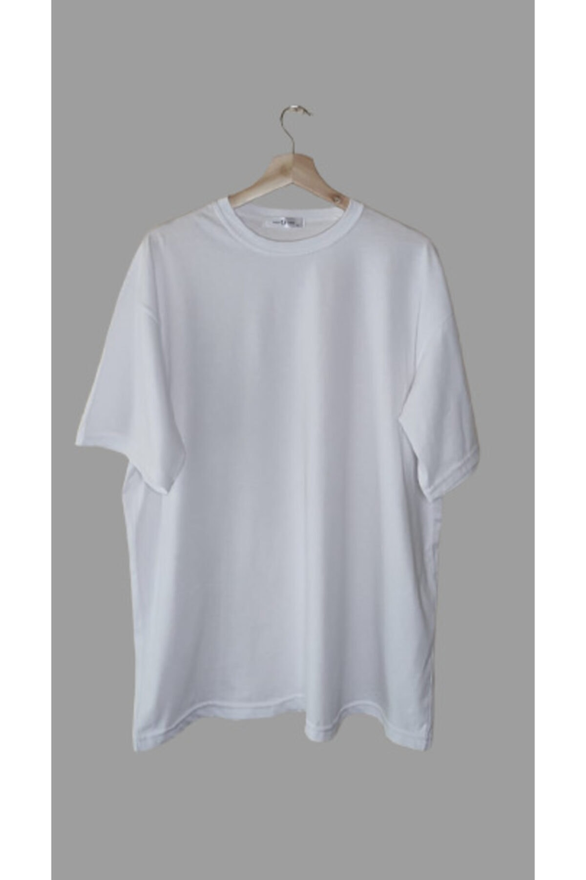 Unisex Beyaz Oversize Tişört