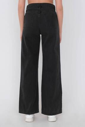 Addax Kadın Gri Bol Paça Pantolon Pn216 - Pni 4