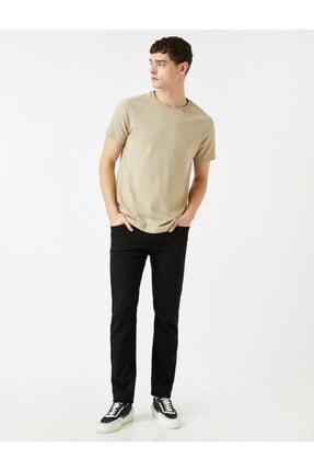 Erkek Siyah Slim Fit Jean Pantolon 1YAM43306LD