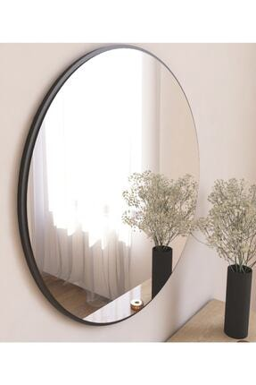 MONEayna Dekoratif Siyah Yuvarlak Duvar Ayna 0