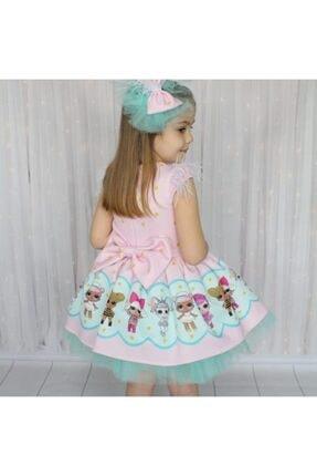 Riccotarz Kız Çocuk Yeşil Tütülü Lol Baby Pembe Elbise 2