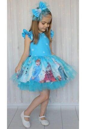 Riccotarz Kız Çocuk Karlar Kraliçesi Mavi Elbise 3
